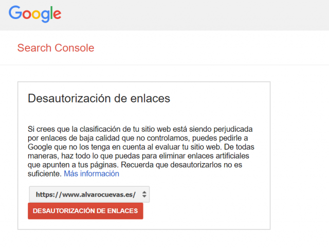 Disavow Google Search Console